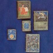 Covers to the books of Shota Rustaveli, Nikoloz Baratashvili, Rasul Gamzatov. Cloisonné enamel, granules, gavars, stones in the frame, enamel on minting. 1957-1972