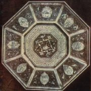 Decorative dish 'Abundance'. Niello, deep engraving. 1960