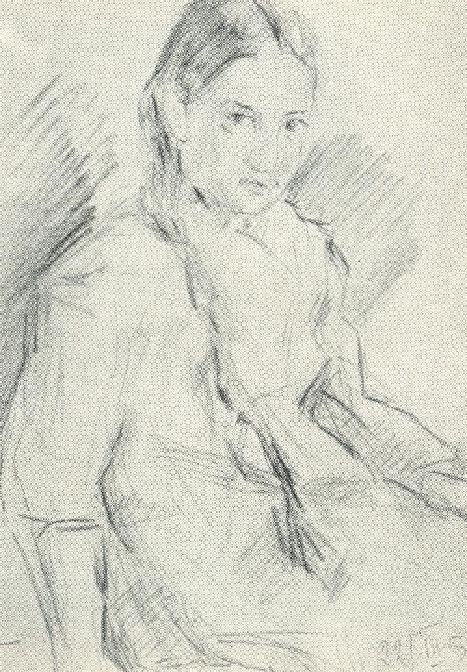 Etude to the portrait of Zukhra. 1958
