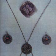 Female set 'Bullfinch' (pendant, earrings). Zern, enamel. 1969