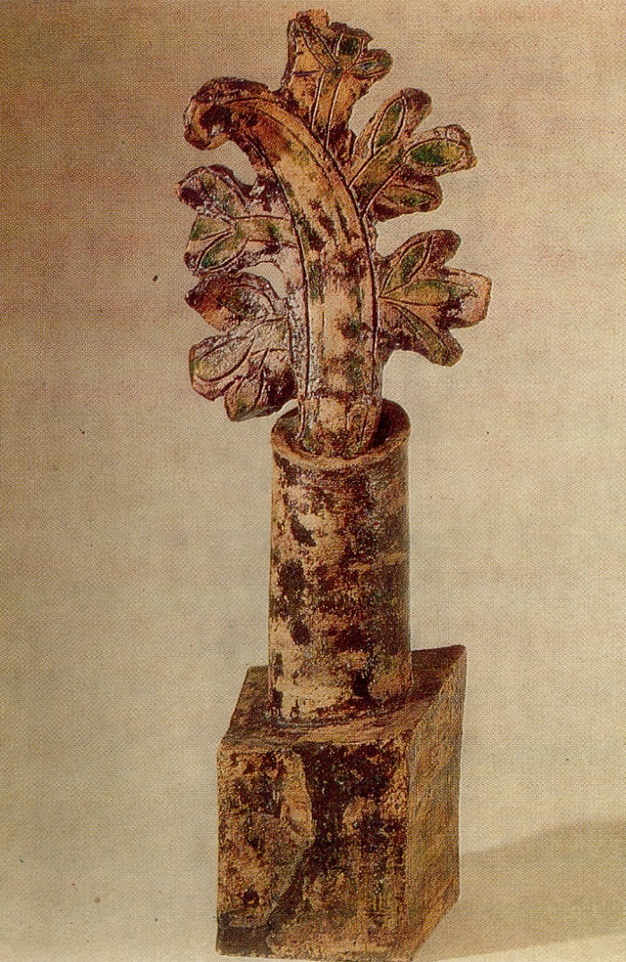 Hyacinth. Sketch of a gravestone. 1971. Chamotte, glaze