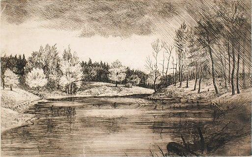 Landscape. 1947 (etching)
