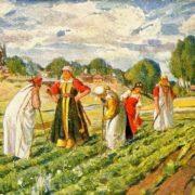 Mordovian women - gardeners