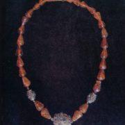 Necklace 'Amber'. Grain, filigree. 1959