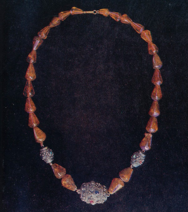 Necklace 'Amber'. Grain, filigree. 1959