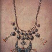 Necklace 'The Moon'. Zern, gavars. 1969