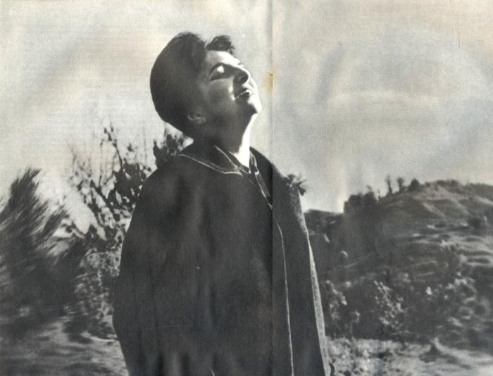 Representative of Russian Soviet school of chamber music Zara Dolukhanova