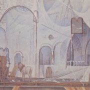 Romeo and Juliet. Sketch of the scenery. Canvas, tempera. 1974
