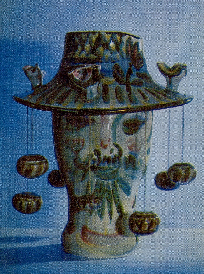Seller of the Raskiday. 1973. Majolica