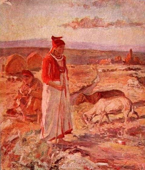Shepherd Mordovian woman
