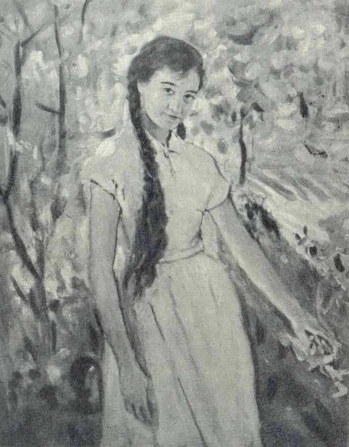 The girl in the garden. 1958