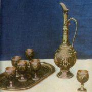 Wine set 'Suruh'. Niello, deep engraving. 1962