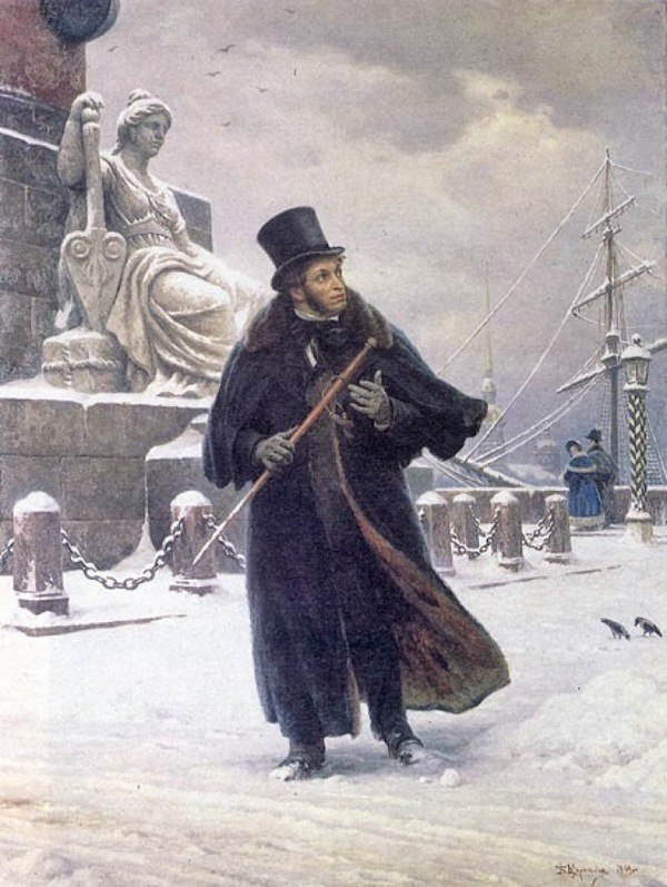 A.S. Pushkin in St. Petersburg