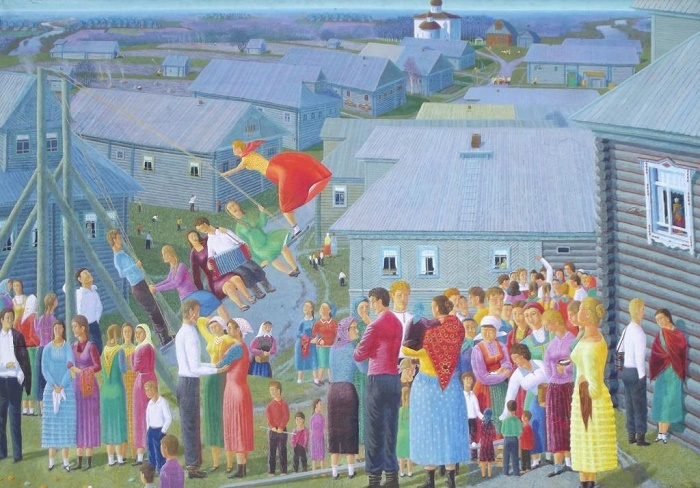 Festivals. Oil on canvas. 1977