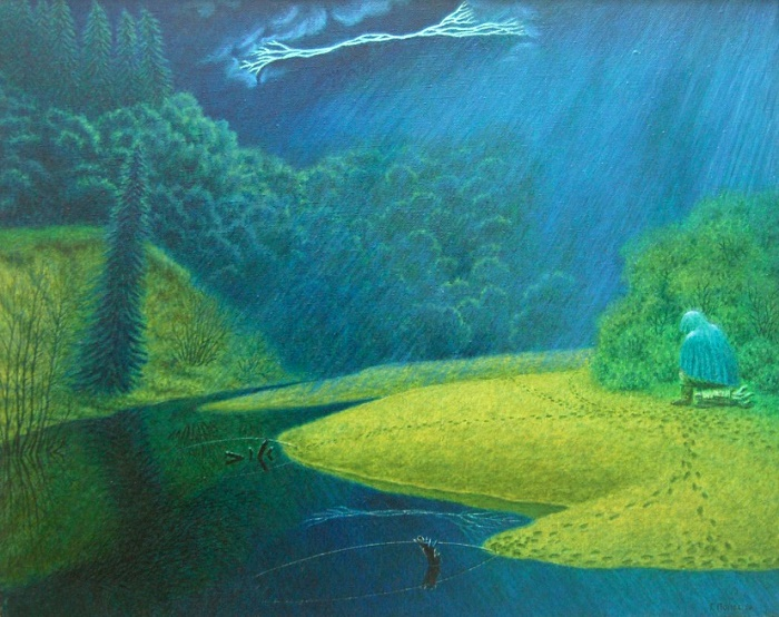 Loneliness on the Tolshma. 1996. Oil, canvas