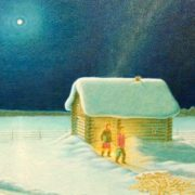Night. Enjoy Your Bath! (The fourth part of the triptych 'Winter'). 2008. Oil on canvas on hardboard