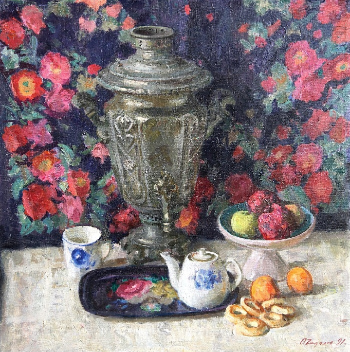 Still-life with a samovar 1991