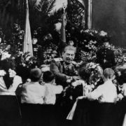 A crowd of children with Stalin