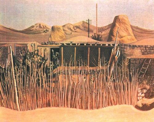 A. Akopyan. Midday in Aghavnadzor. Oil. 1966