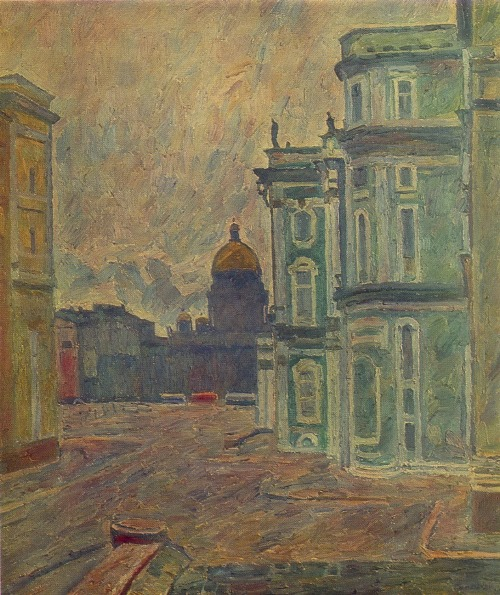 A. Papikyan (Moscow). Leningrad. 1981. Oil on canvas