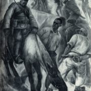 A.P. Kodzhoyan. The execution of the Communists in Tatev. Wax paints. 1930