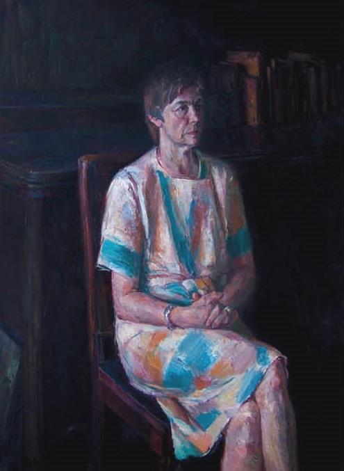 Art critic E. Butorina. 1984. Oil on canvas