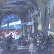 Attacking Winter Palace. 1981. Oil on canvas. Musheg Misakovich Antonyan (1916-1989)