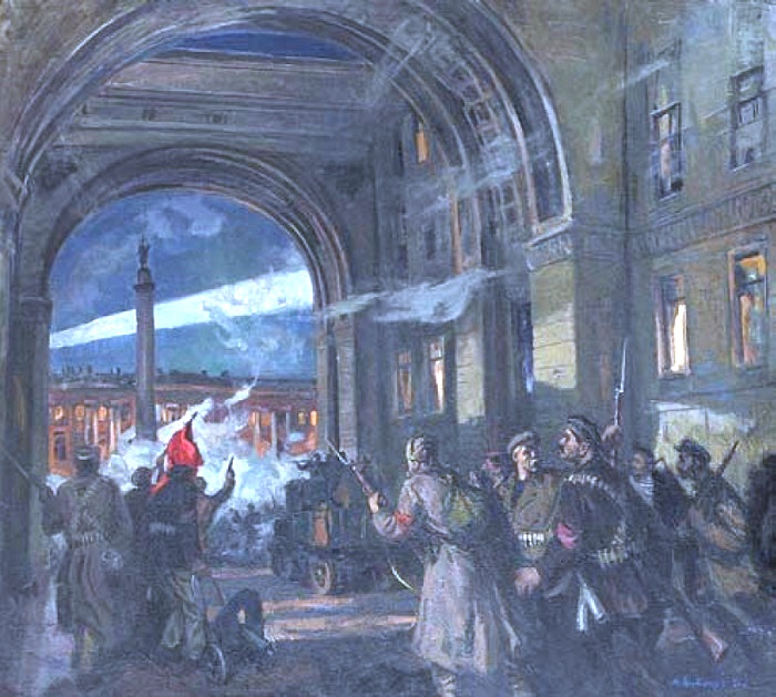 Attacking Winter Palace. 1981. Oil on canvas. Musheg Misakovich Antonyan (1916-1989)