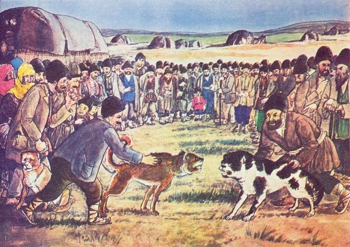 Azim Aslan oglu Azimzade. Dog fights. 1938