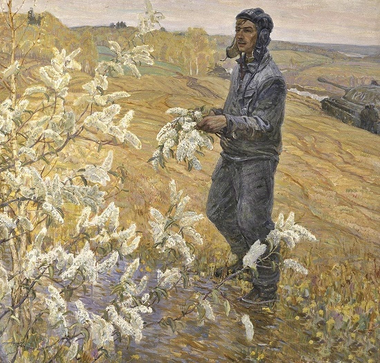 Painting by Soviet artist Victor Konstantinovich Dmitrievsky (1923-2006)
