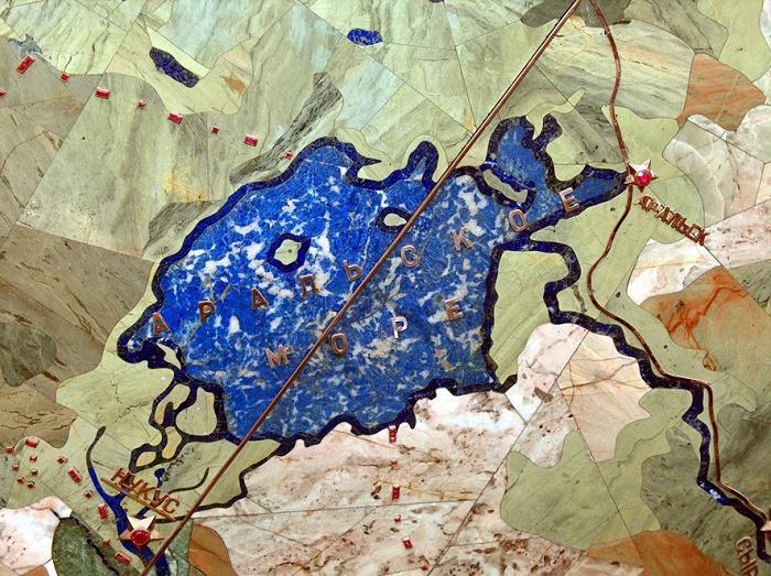 Blue - the Aral Sea