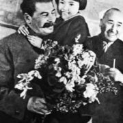 Buryat girl Gelya with Stalin