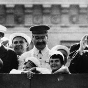Children and Stalin at the parade