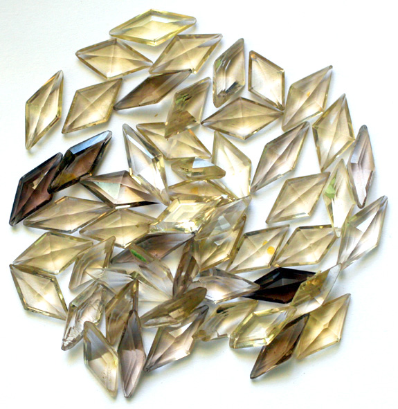 Diamond-shaped processed stones