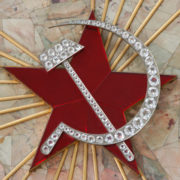 Hammer and sickle encrusted with diamonds