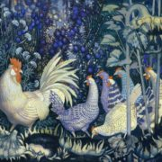 Hens in the garden. 1991