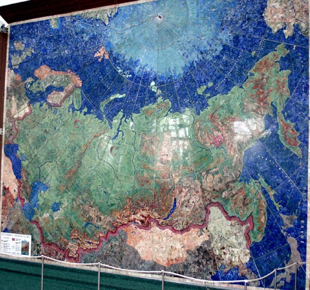 Industry of Socialism mosaic map of the USSR