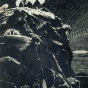 Landscape. 1959. Engraving on linoleum