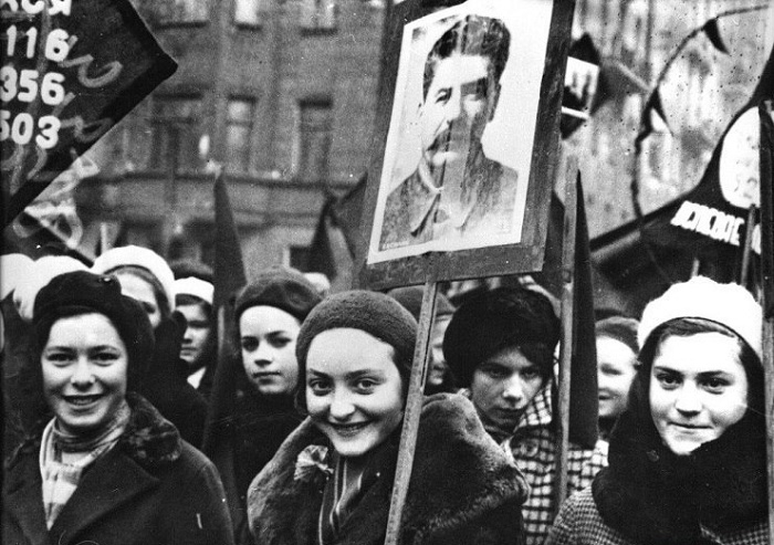 Leningrad, parade on 7th November, 1938