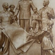 Made in bronze Stalin and thankful children