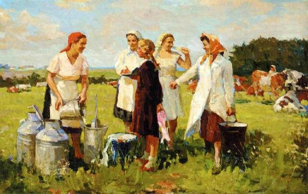 Milkmaids. 1930s