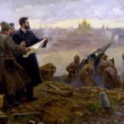 PK Shternberg directs the shelling of the Kremlin in 1917 (co-author IV Evstigneev)