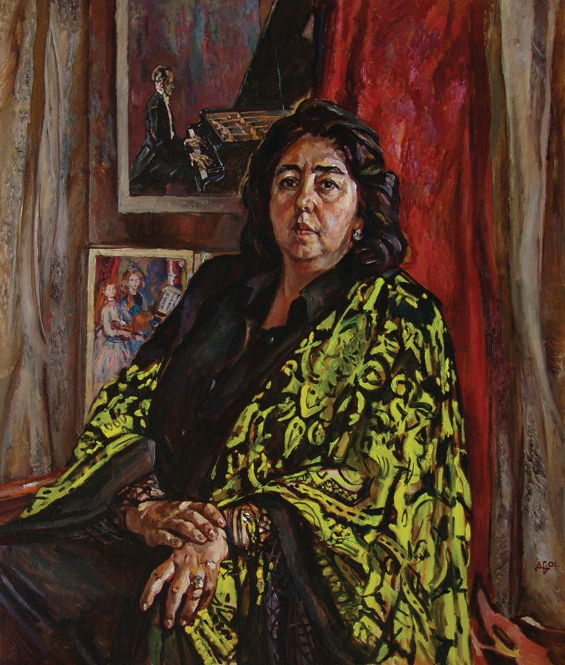 Pianist Orazgul Annamuradova. 2001. Oil, canvas
