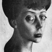 Portrait of Manana Gedenishvili. 1961. Paper, pencil