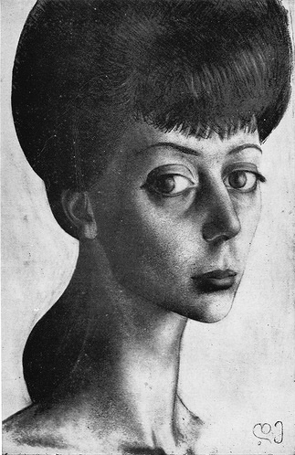 Portrait of Manana Gedenishvili. 1961. Paper, pencil
