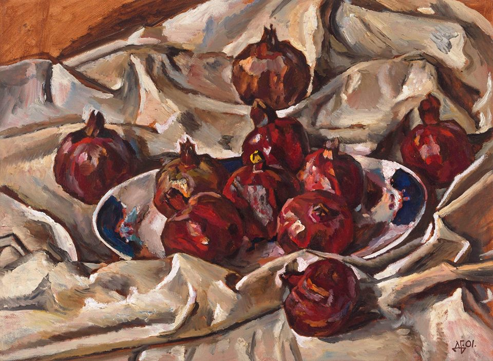 Red pomengranates. 2001