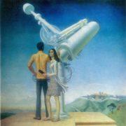 Ruben Sarkisovich Ghevondian (b. 1942) Byurakan. 1971. Oil on canvas