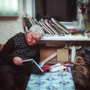 Soviet Tatar artist Rifkat Mukhamedovich Vakhitov (born 1938). In the Union of artists, 2016. photo Ramil Valeyev