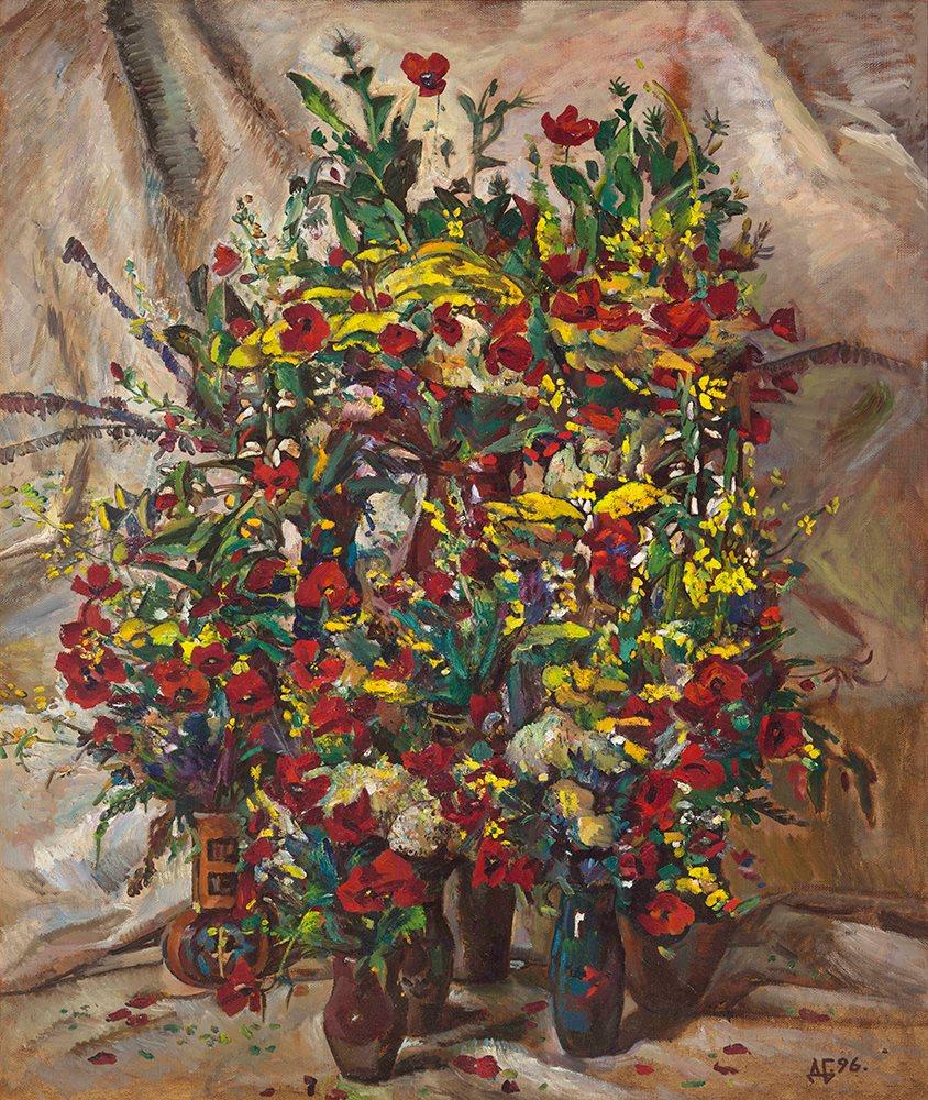 Spring flowers. 1996. Oil on linen