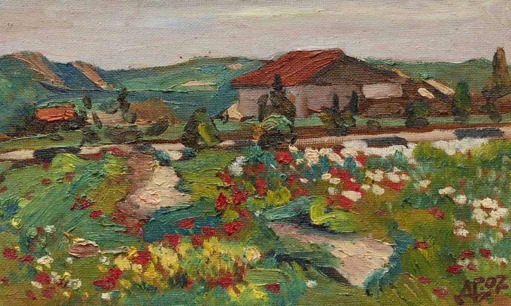 Spring landscape. Oil, canvas, cardboard. 2007